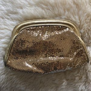 Vintage Whiting & Davis Gold clutch